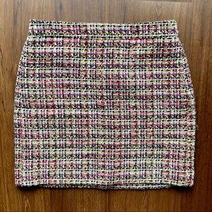 J.Crew Multicolor Tweed Pencil Skirt Pockets Wool